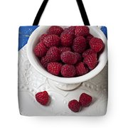 Cup Full Of Raspberries Tote Bag by Garry Gay