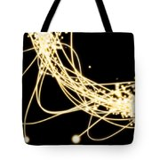Electric Lines Tote Bag by Setsiri Silapasuwanchai