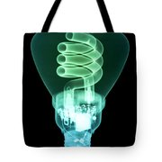 Energy Efficient Light Bulb Tote Bag by Ted Kinsman
