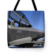 F-35b Lightning II Variants Are Secured Tote Bag by Stocktrek Images