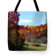 Fall Drive in Tennessee Tote Bag by EricaMaxine  Price