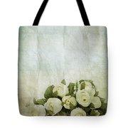 floral pattern on old paper Tote Bag by Setsiri Silapasuwanchai