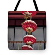 Four Lanterns Tote Bag by Kelley King