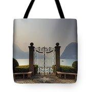 Gateway To The Lake Of Lugano Tote Bag by Joana Kruse