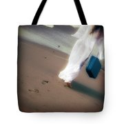Girl With Suitcase Tote Bag by Joana Kruse