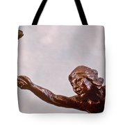 He Who Saved The Deer - Native American Youth Detail Tote Bag by Dawn Senior-Trask and Willoughby Senior