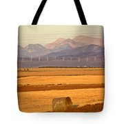 High Plains Of Alberta With Rocky Mountains In Distance Tote Bag by Mark Duffy