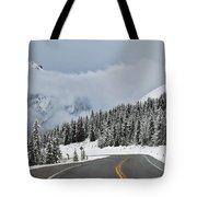 Highway 40 In Winter, Highwood Pass Tote Bag by Darwin Wiggett