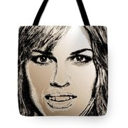 Hilary Swank In 2007 Tote Bag by J McCombie