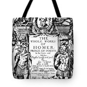 Homer Title Page, 1616 Tote Bag by Granger