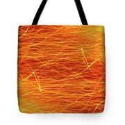 Hot Sparks Tote Bag by Carlos Caetano