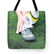 Injured Ankle Tote Bag by Photo Researchers