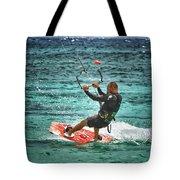 Kiesurfing Tote Bag by Stelios Kleanthous