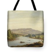 Landscape With River Tote Bag by Sanford Robinson Gifford
