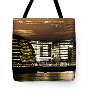 London City Hall At Night Tote Bag by Elena Elisseeva
