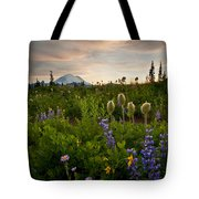 Lupine Sunset Tote Bag by Mike  Dawson