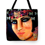 Madame Butterfly Tote Bag by Natalie Holland