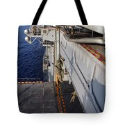 Marines And Sailors Fast-rope Tote Bag by Stocktrek Images