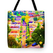 Noe Street In San Francisco 2 Tote Bag by Wingsdomain Art and Photography