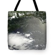 Oil Slick In The Gulf Of Mexico Tote Bag by Stocktrek Images