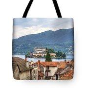 Orta - Overlooking The Island Of San Giulio Tote Bag by Joana Kruse