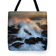 Over The Rocks Tote Bag by Mike  Dawson