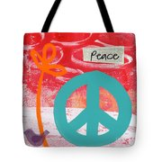 Peace Tote Bag by Linda Woods