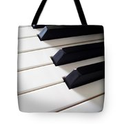 Piano Keys Tote Bag by Carlos Caetano