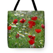 Poppies Tote Bag by Guido Montanes Castillo