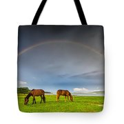 Rainbow Horses Tote Bag by Evgeni Dinev