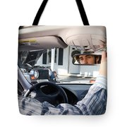 Rear-view Mirror Tote Bag by Photo Researchers