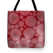 Red Abstract Circles Tote Bag by Frank Tschakert