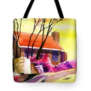 Red House Tote Bag by Anil Nene