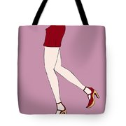 Red Shoes Tote Bag by Frank Tschakert
