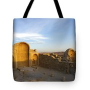 Ruins Of Shivta Byzantine Church Tote Bag by Nir Ben-Yosef