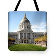 San Francisco City Hall - Beaux Arts At Its Best Tote Bag by Christine Till
