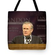 Secretary Of Defense Donald H. Rumsfeld Tote Bag by Stocktrek Images