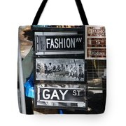 Signs Of New York Tote Bag by Rob Hans