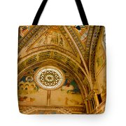 St Francis Basilica   Assisi Italy Tote Bag by Jon Berghoff