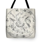 Star Map From Kirchers Oedipus Tote Bag by Science Source