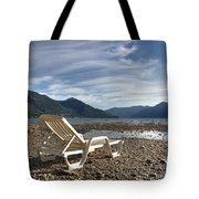 Sun Chair On Lake Maggiore Tote Bag by Joana Kruse