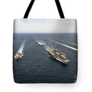The Enterprise Carrier Strike Group Tote Bag by Stocktrek Images