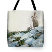 The Faggot Gatherer Tote Bag by Winslow Homer