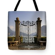 The Gateway To Lago Di Lugano Tote Bag by Joana Kruse