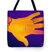 Thermogram Of A Hand Tote Bag by Ted Kinsman