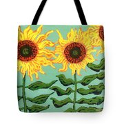 Three Sunflowers Tote Bag by Genevieve Esson