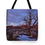 Timed Exposure Of Sunset Clouds Tote Bag by Robert Postma