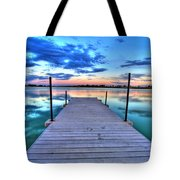 Tranquil Dock Tote Bag by Scott Mahon