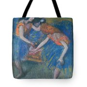 Two Dancers Tote Bag by Edgar Degas