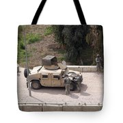 U.s. Military Soldiers Take A Well Tote Bag by Terry Moore